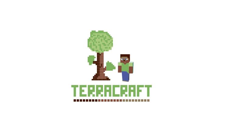 minecraft, terraria, pixel, design, logo, логотип, майнкрафт